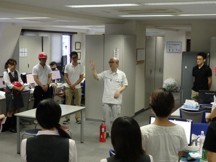 防災訓練を実施 平成27年9月2日