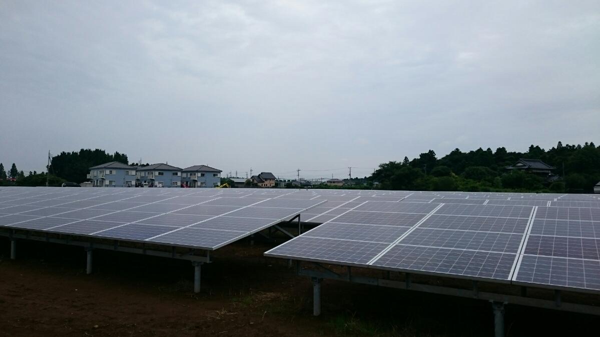 1.5メガ太陽光発電パネル設置工事完了 平成27年11月12日